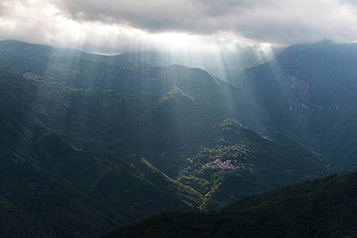 Photograph - Rays Of Light In The Clouds - Raggi Di Luce Tra Le Nuvole Dell'alta Via Dei Monti Liguri by Enrico Pelos
