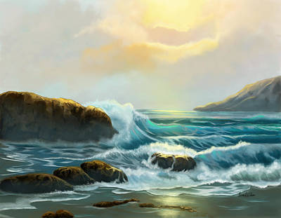 Painting - Rays Of Light by Sena Wilson