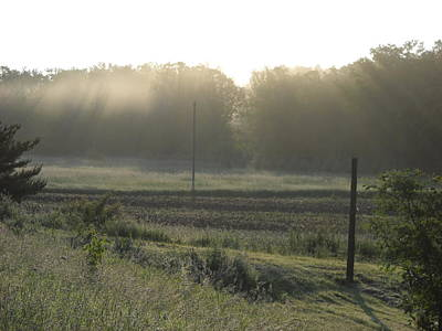 Photograph - Rays Of Sunlight Through Fog by Kent Lorentzen