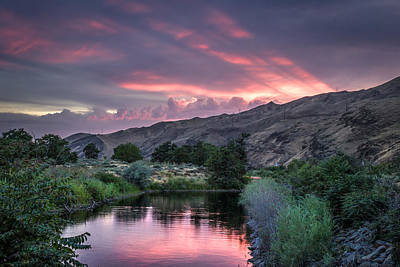 Lewiston Photograph - Rays Of Sunset by Brad Stinson