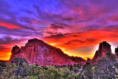 Of Gods Sunshine Photograph - Rays Of The Gods by Scott Mahon