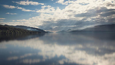 Loch Ness Photograph - Sun Rays On Loch Ness by Chris Dale