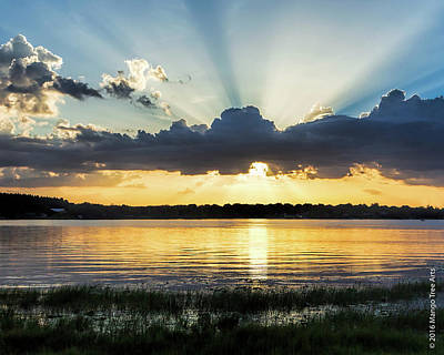 Photograph - Rays Over Crescent Lake by Stuart Wilson