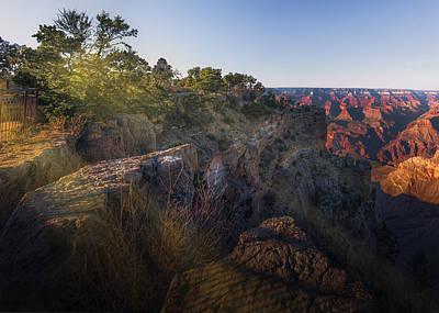 Rays Over The Canyon  Art Print