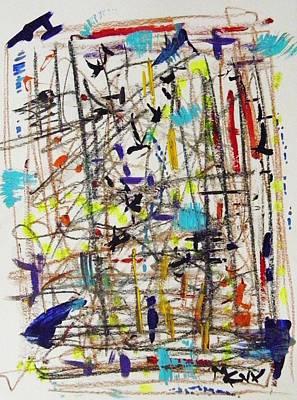 Painting - Raz Dizzy  by Mary Carol Williams