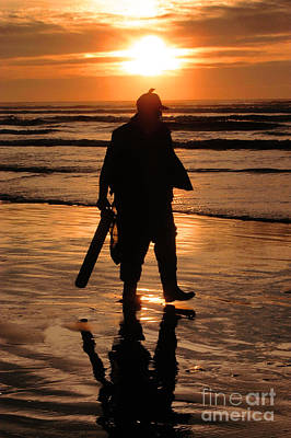 Razor Clam Hunter Art Print