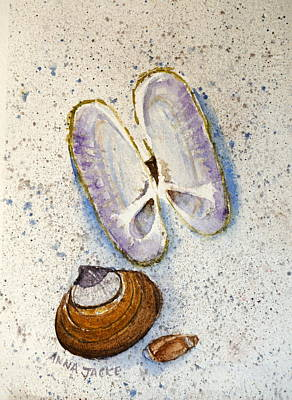 Painting - Razor Clam Study #2 by Anna Jacke