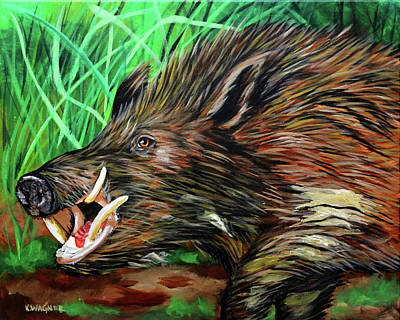Painting - Razorback Boar by Karl Wagner