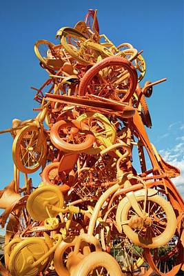 Photograph - Razorback Greenway Bike Tower Statue - Northwest Arkansas by Gregory Ballos