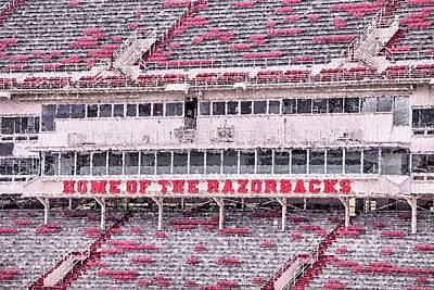 Photograph - Razorback Stadium by JC Findley