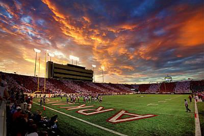 War Memorial Stadium Photograph - Razorback Sunset by John Bingaman