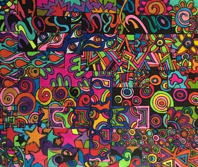 Arty Drawing - Razzmatazz 2 by Alison Easdown