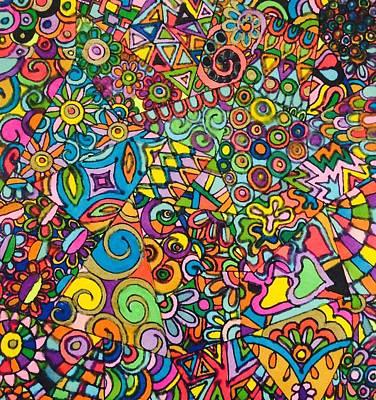 Arty Drawing - Razzmatazz Ritual by Alison Easdown