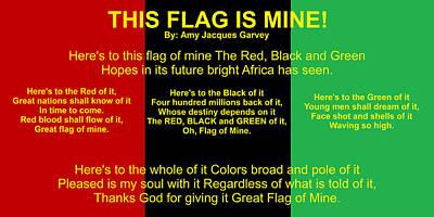Digital Art - Rbg Flag Pledge By Amy Jacques Garvey by Adenike AmenRa