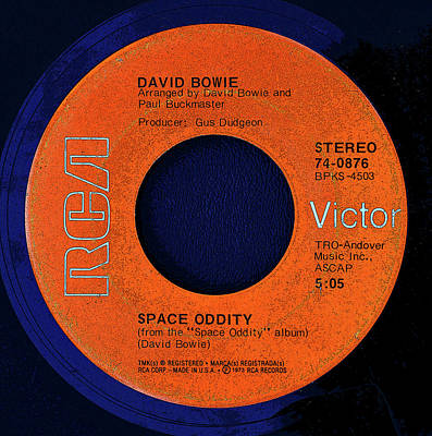 Digital Art - Rca Record And David Bowie by David Lee Thompson