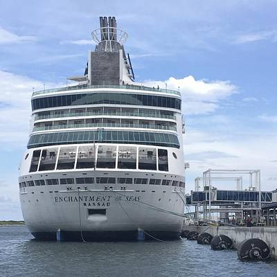 Photograph - Rci Enchantment Of The Seas At Dock by Bradford Martin