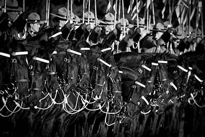 Photograph - Royal Canadian Mounted Police - Black And White by Christina Conway