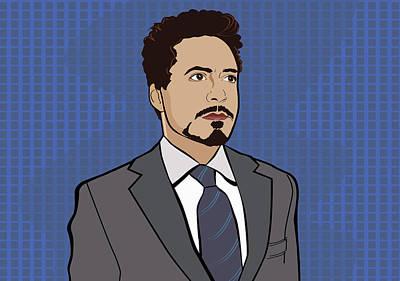 Caricature Digital Art - Rdj Pop Art by Sandi Fender