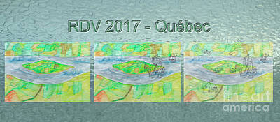 New Training Painting - Rdv 2017 Quebec Mug Shot by Dominique Fortier