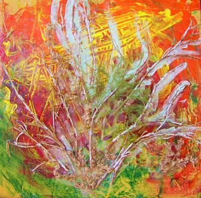 Tantra Painting - Re - Tree - T by Bebe Brookman
