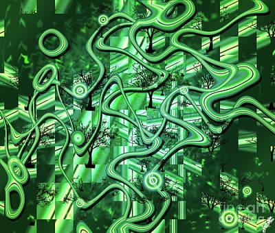 Re-green Evolution Art Print by Artist Nandika Dutt