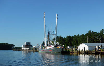 Photograph - Re Mayo Seafood At Pamlico River North Carolina by Louise Heusinkveld