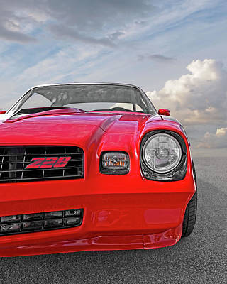 Photograph - Re-sale Red - 78 Camaro Z28 by Gill Billington