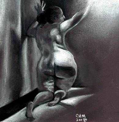 Female Nude Drawing - Reach by Cartoon Hempman