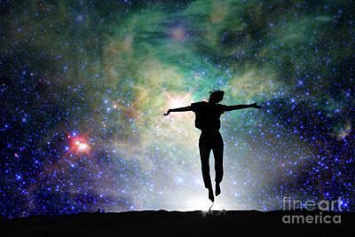 New Mind Photograph - Reach For The Stars by Delphimages Photo Creations