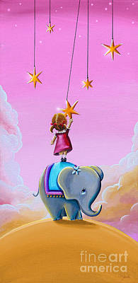 Circus Painting - Reach For The Stars - Remixed by Cindy Thornton
