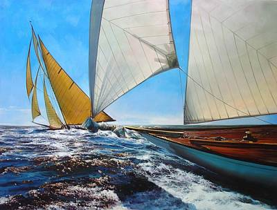 Classic Marine Art Painting - Reaching After The Cup by Lucia Amitra