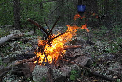 Reaching Fire Original by Cynthia  Cox Cottam