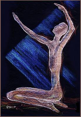 Drawing - Reaching For The Light by Hartmut Jager