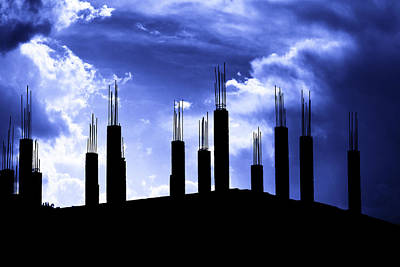 Photograph - Pillars In The Sky by Aidan Moran