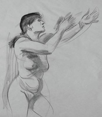 Drawing - Reaching For The Sky by Robert Holden