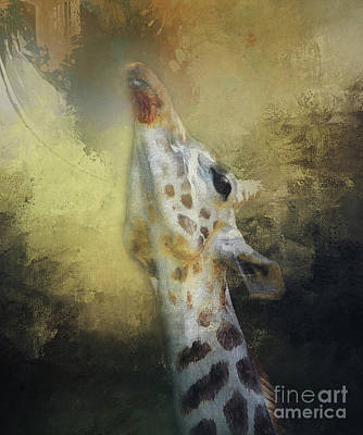 Photograph - Reaching Giraffe by Clare VanderVeen
