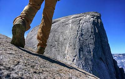 Photograph - Reaching Half Dome by Peter Thoeny