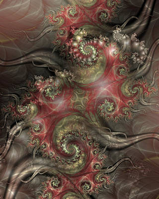Fractal Digital Art - Reaching Out by David April