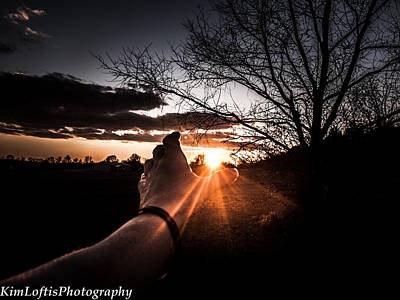 Photograph - Reaching Out To Dad In Heaven  by Kim Loftis