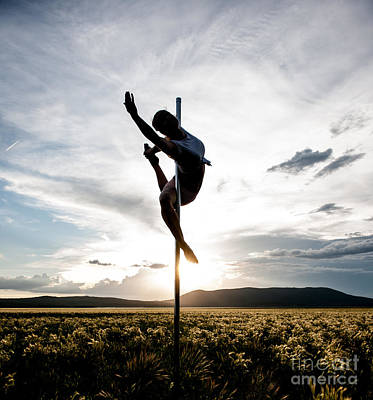 Photograph - Reaching Pole Dance At Sunset by Scott Sawyer