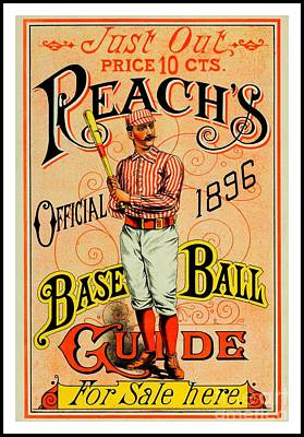 Painting - Reachs Official 1896 Baseball Guide by Peter Gumaer Ogden Collection