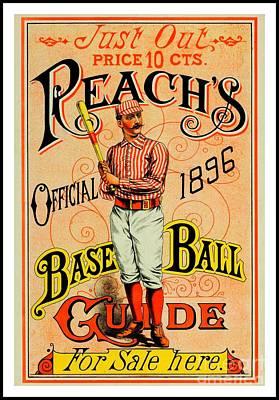 Red Sox Art Painting - Reachs Official 1896 Baseball Guide by Peter Gumaer Ogden