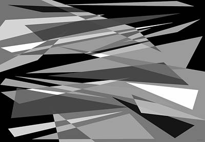 Digital Art - Reaction - Black And White Abstract by Val Arie