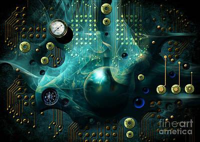 Digital Art - Reactor In Blue by Alexa Szlavics