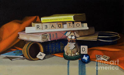 Painting - Read To A Dog by Margit Sampogna