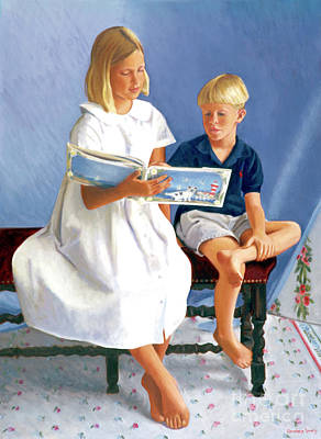 Painting - Read To Me by Candace Lovely