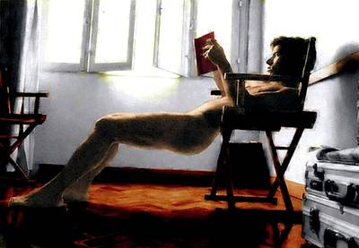 Painting - Reader by Troy Caperton