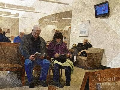 Photograph - Reading And Waiting by Kathie Chicoine