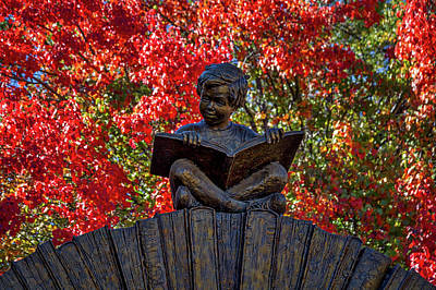 Photograph - Reading Boy - Santa Fe by Stuart Litoff
