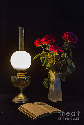 Photograph - Reading By Oil Lamp by Brian Roscorla